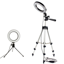 Dimmable LED Studio Camera Ring Light Photo Mobile Phone Video Annular Lamp Tripod Selfie Stick For Xiaomi iphone Canon Nikon