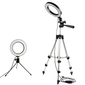 Image 1 - Dimmable LED Studio Camera Ring Light Photo Mobile Phone Video Annular Lamp Tripod Selfie Stick For Xiaomi iphone Canon Nikon