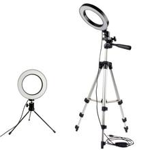 Dimmable LED Studio caméra anneau lumière Photo téléphone portable vidéo annulaire lampe trépied Selfie bâton pour Xiaomi iphone Canon Nikon