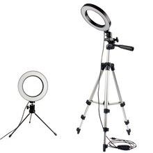 Dimmbare LED Studio Kamera Ring Licht Foto Handy Video Ringförmige Lampe Stativ Selfie Stick Für Xiaomi iphone Canon Nikon