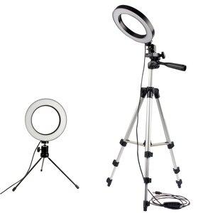 Image 1 - ניתן לעמעום LED סטודיו מצלמה טבעת אור צילום נייד טלפון וידאו טבעתי מנורת חצובה Selfie מקל לxiaomi iphone Canon ניקון