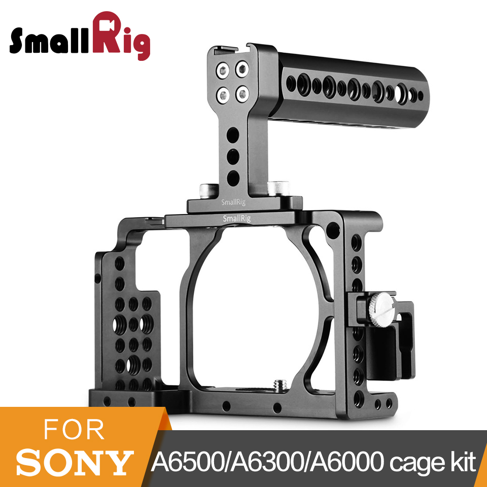 SmallRig a6500 Cage + Top Handle + HDMI Clamp Kit para Sony A6300/A6000/A6500/NEX7 Cámara jaula jaula DSLR Mount Rig-1921