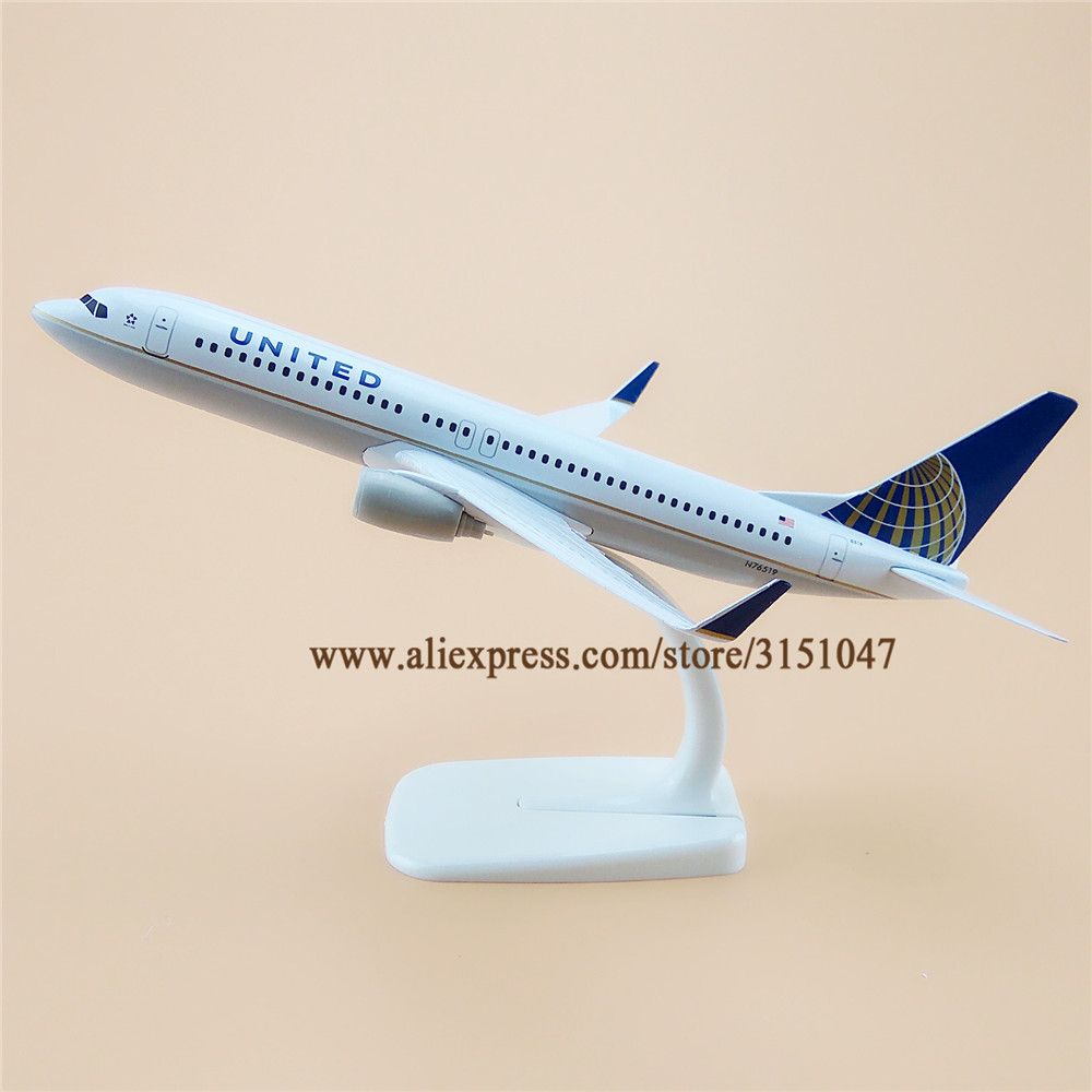 20cm Air American United Boeing 737 B737 Airlines Plane
