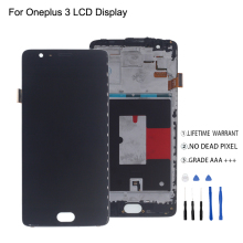 For Oneplus 3 A3000 A3003 LCD Display Touch Screen With Frame Digitizer For Oneplus 3 Display Screen LCD Phone Parts Free Tools for oppo oneplus 3 a3000 rai lcd display with touch screen digitizer assembly by free dhl 100% warranty 10pc lot
