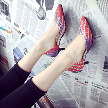 2016 new all-match pointed sexy fine with sandals in summer in Rome Korean high heels hollow shoes single shoes
