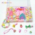 Crianças diy contas conjuntos de acessórios para o cabelo jóias fazendo kits de brinquedos educativos puzzle brinquedo de exercitar a criatividade dos miúdos meninas presente