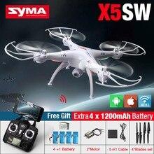 Syma X5SW X5SW-1 FPV Drone avec Wifi Caméra 2.4G 6-Axis RC Quadcopter Hélicoptère 3D Flip Vol pour Enfants Jouets avec 5 Batterie