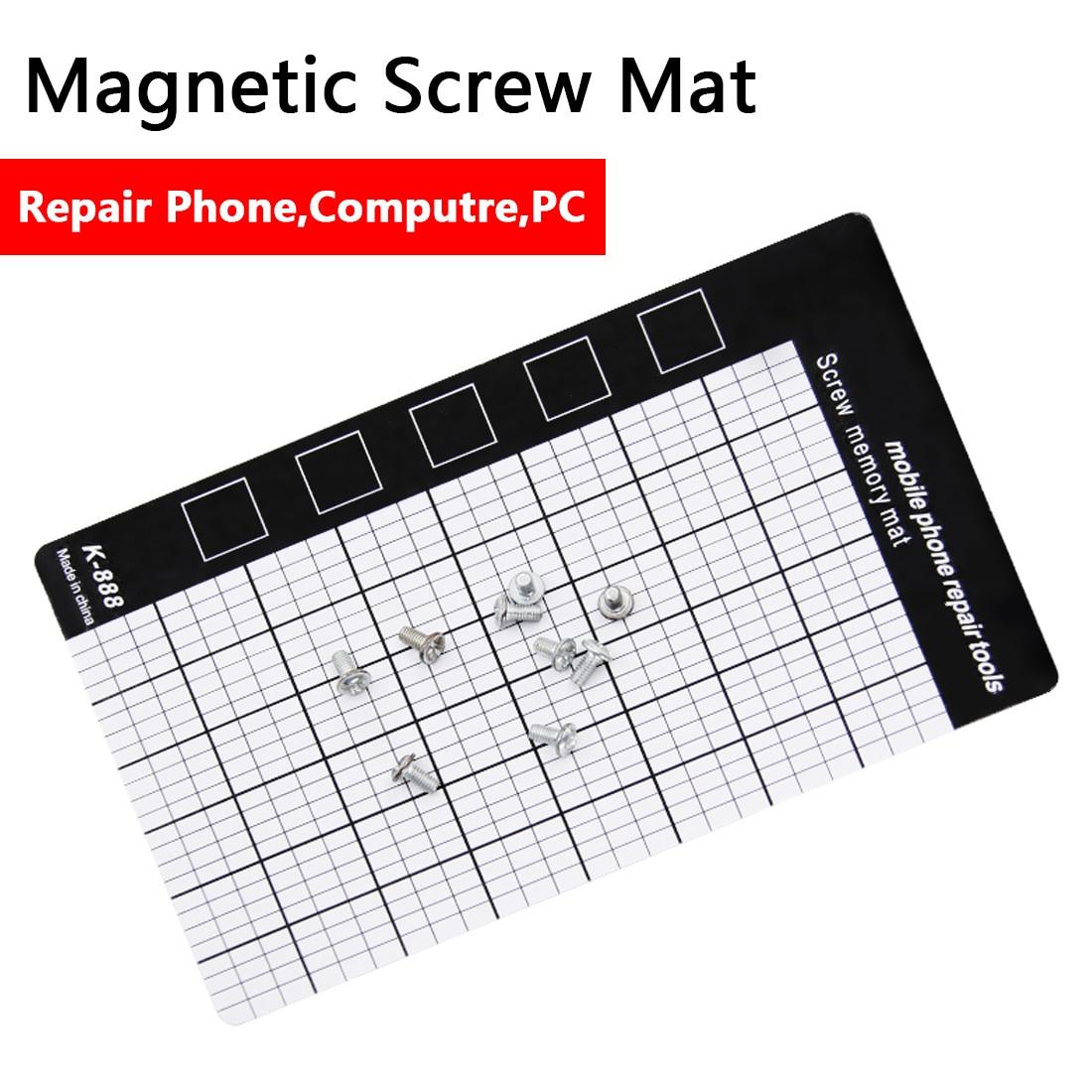 все цены на Magnetic Working Pad Magnetic Screw Mat Memory Chart Work Pad Mobile Phone Repair Tools 145 x 90mm Hand Tool Set онлайн