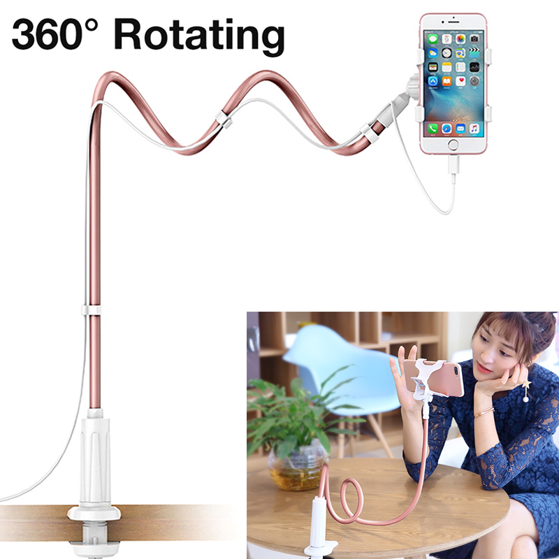 New Universal Desktop Bed Long Arm Lazy Stand Mount Mobile Phone Holder for iPhone Samsung DOM668