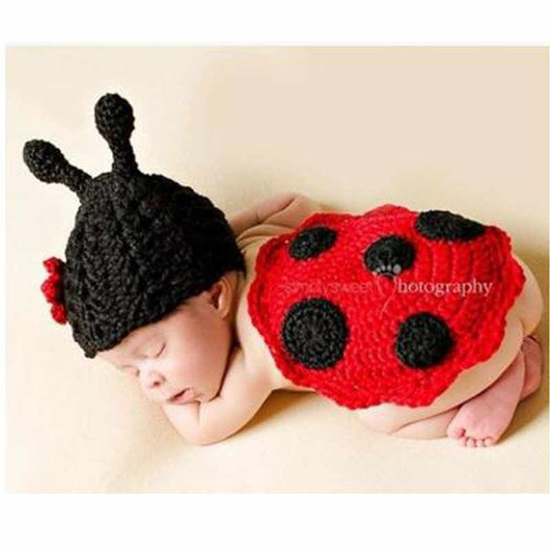 f6e822f13 Newborn Baby Photography Props girl Boy Animal Pants Knit Hat Set Cute Baby  Hand Made Crochet Costume Photo Shoot Clothes