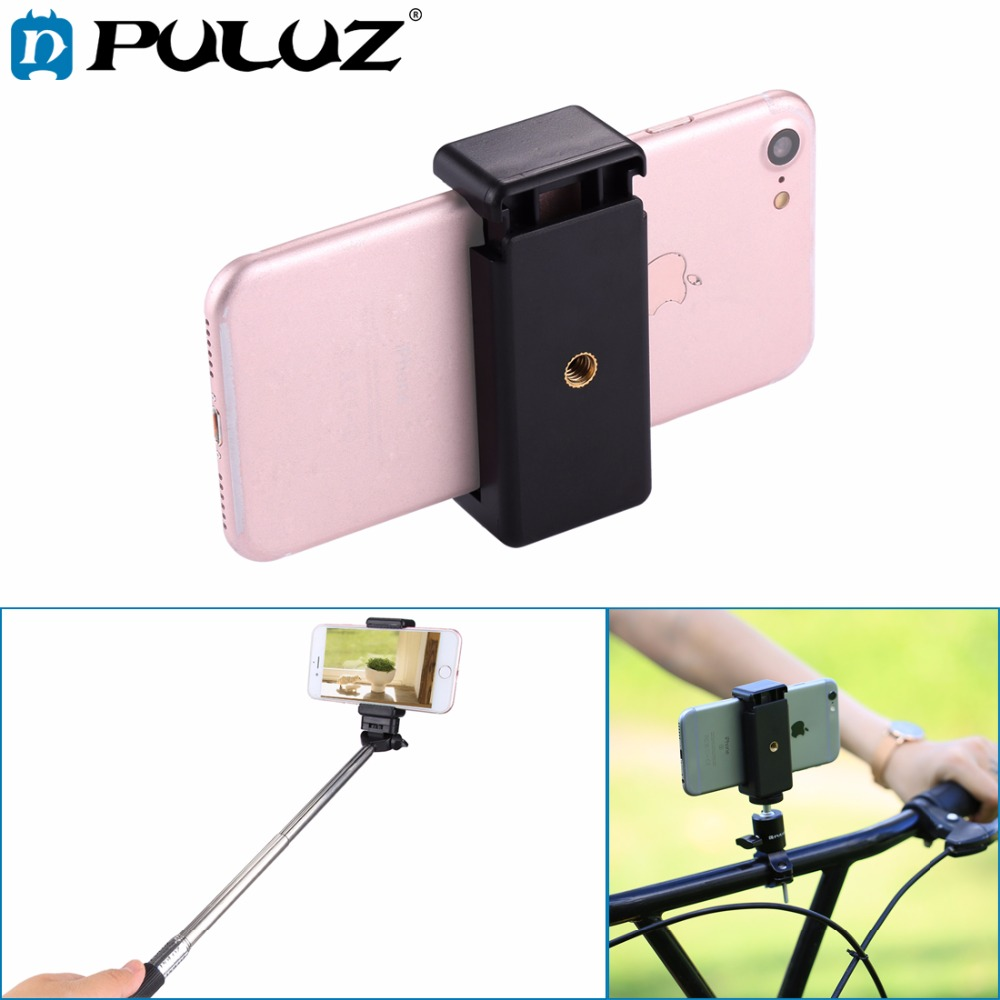 Selfie Sticks Tripod Mount Phone Clamp with 1/4 Inch Screw Hole for IPhone, Samsung, HTC, Sony, LG and Other Smart Phones