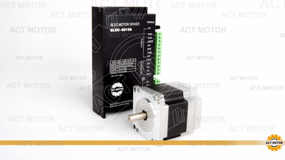 цены nema23  57BLF01  brushless DC motor 3phase, 3000RPM, 63W  with driver  BLDC-8015A