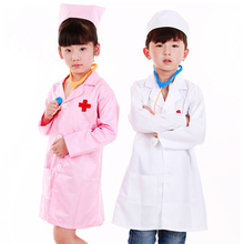 Cap Outfits Dress-Up-Coat Play-Tools-Set Doctor Surgeon Cosplay Girls Kids Nurse