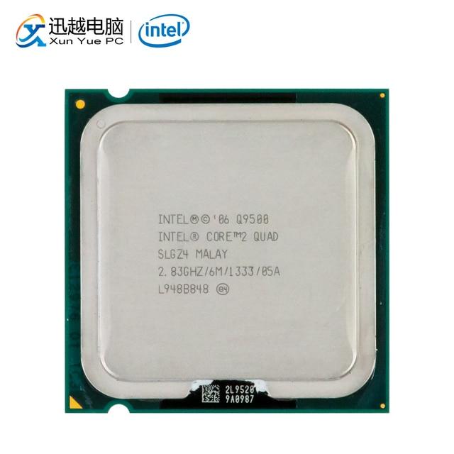 إنتل الأساسية 2 رباعية Q9500 سطح المكتب معالج رباعية النواة 2.83 GHz 6 MB مخبأ FSB 1333 LGA 775 9500 تستخدم وحدة المعالجة المركزية