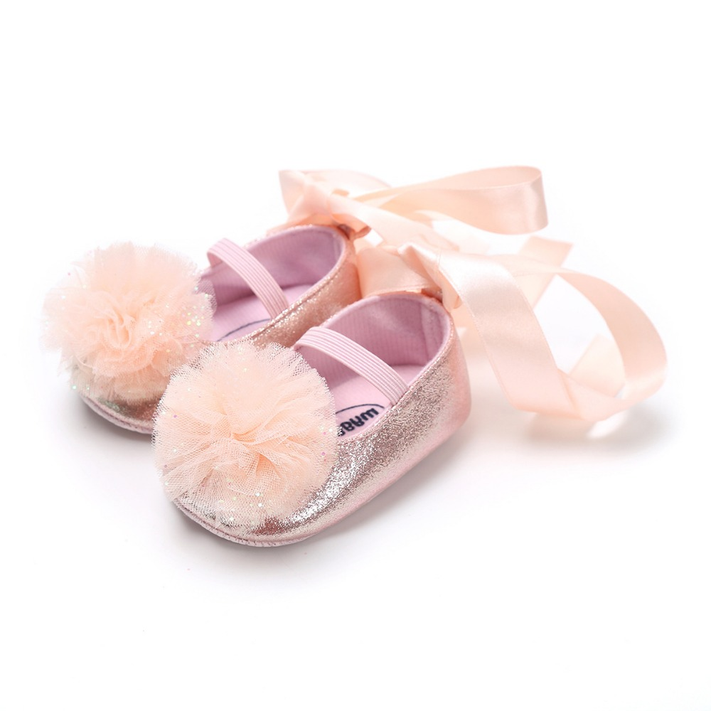 Pink Infant Shoes Newborn Baby Girl Princess Shoes Moccasins Wedding Party Footwear 0~18 Months Bebe Hot Moccs Baby Shoes.CX134C