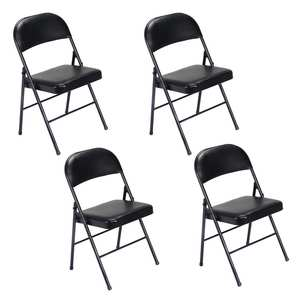 e9d667377f4 4 8 12 PACK Folding Chair Fabric Upholstered Padded Seat