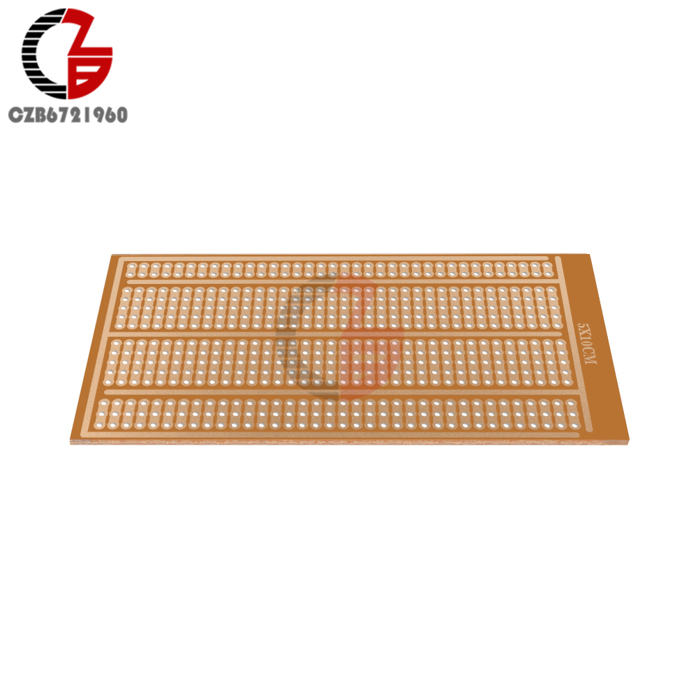 5Pcs 5x10cm Universal Solderless PCB Test Breadboard Single Side Copper Prototype Paper Tinned Plate Bread Board Joint Holes DIY
