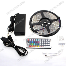Tape Car lamp Home Decor Car lamp 5050 LED strip Light  5M 60LED/M RGB Waterproof +12V 6A Adapter+44key Remote Controller