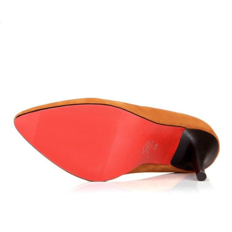 Pequeños Moda Negro Nueva El 43 Tamaño De Ol Mujeres rose Sexy 42 32 Trabajan Zapatos Rebaño Paltform Tacón Bombea Red Señaló Alto 31 Patios 2016 Grande chocolate w05qdxg0