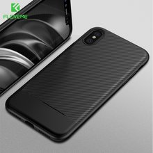 ee2ca45cbe60db FLOVEME Business Phone Case For iPhone X 8 7 6s 6 Carbon Fiber Soft TPU  Back Cover Cases For iPhone 10 6 6s Plus 7 8 Plus Fundas