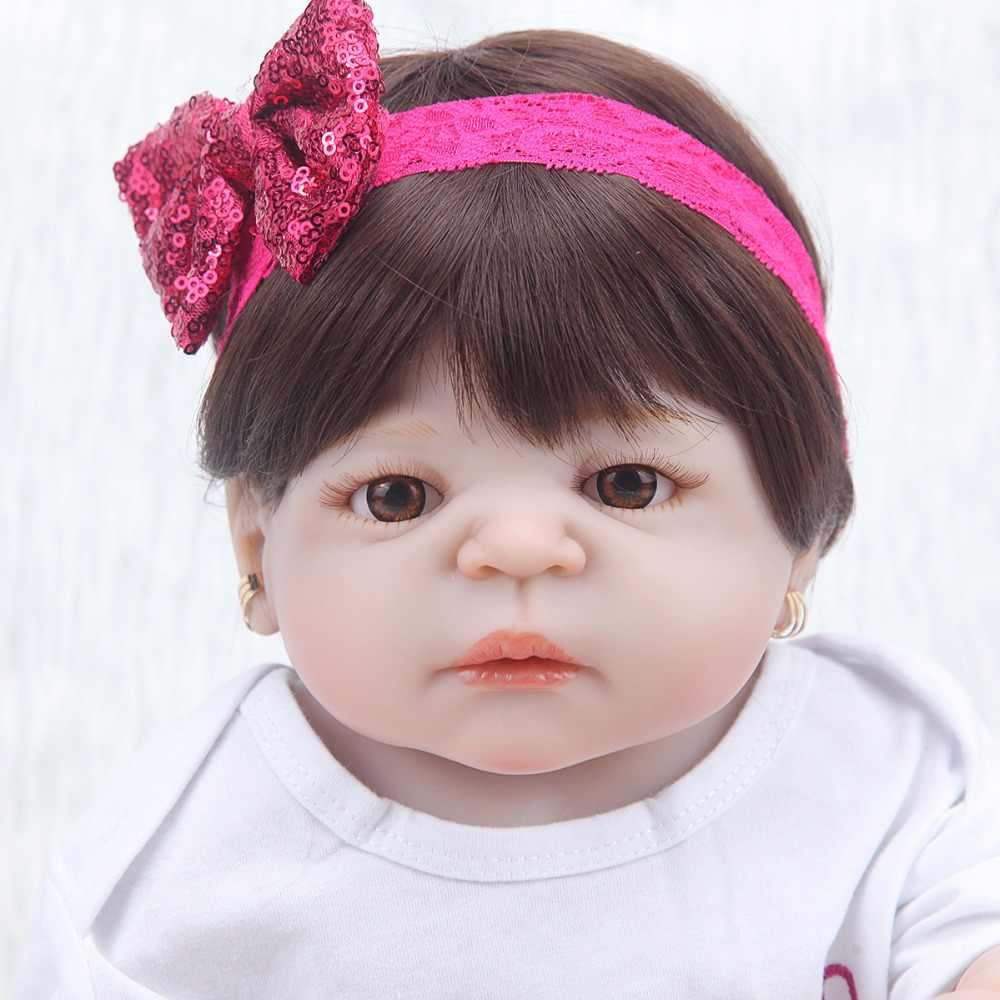 Очаровательная кукольная кукла 55 см, ручная работа, силиконовая кукла для новорожденных, boneca, милая одежда, модные куклы для девочек