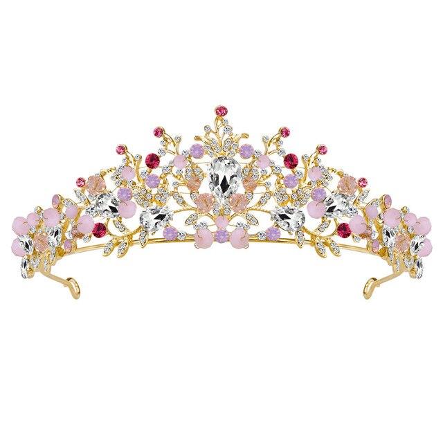 Women Wedding Tiara Pearl Headband Jewelry Shiny Bridal Crown Tiara Hair  Jewelry hair accessories flower crown DROP Shipping  6 44eb9dc374a