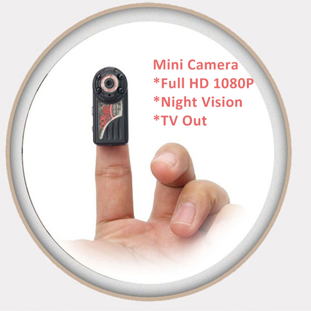 QQ6 Smallest Camera HD 1080P 720P Infrared Mini Camera Wide Angle Mini DV DVR Camera Camcorder Micro Digital Video Web Camera