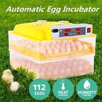 Инкубатор автоматический цыпленок 112 яиц цифровой контроль температуры инкубатор поворот Хэтчер инкубационные инструменты поставки пласт