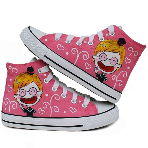 Enfance heureuse enfants couleur dessin chaussures filles les chaussures de  toile ER,Z011