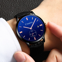 2019 New Arrival France Popular Quartz Watch for Man Waterproof Simple Rope Strap Student