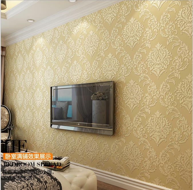 Classic European style restoring ancient ways stereo anaglyph 3 d flocking non-woven wallpaper wall living room TV setting 163 stereo video wallpaper tv setting europe type restoring ancient ways sitting room bedroom non woven wall sticker home decor