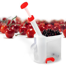 New Cherry Pitter Stone Remover Machine Cherry Corer stones With Container Kitchen Tool machine Novelty Gadgets Fruit Corer Tool