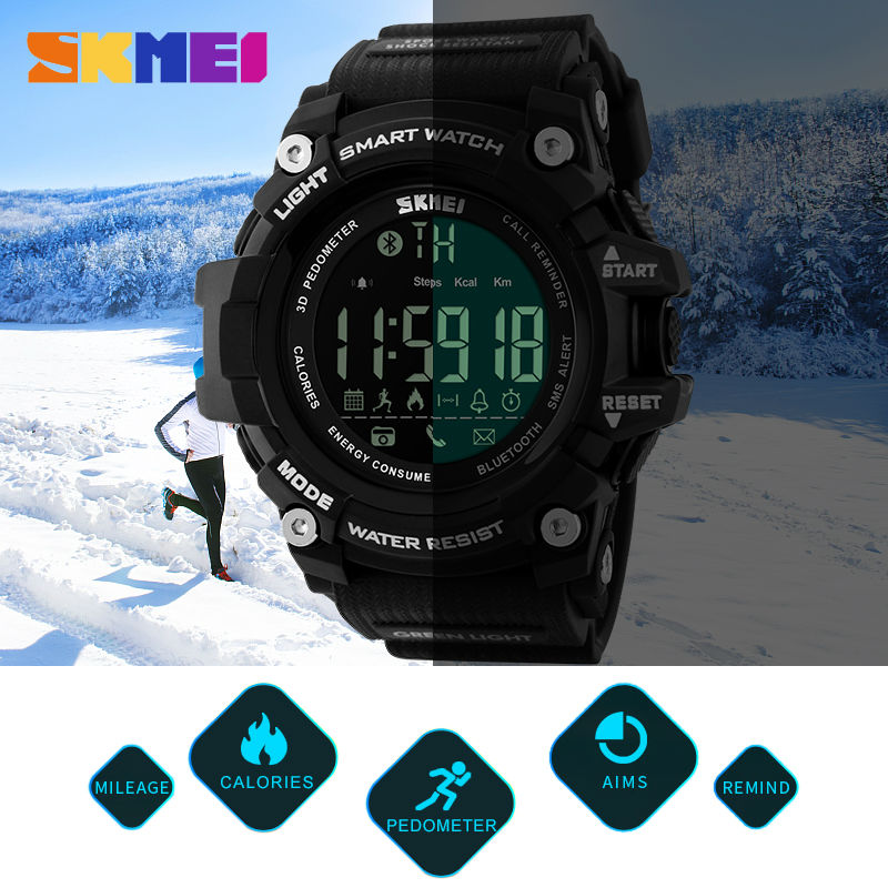 SKMEI Mænd Watch Pedometer Kalorier Smart Watch Fashion Outdoor - Mænds ure - Foto 5