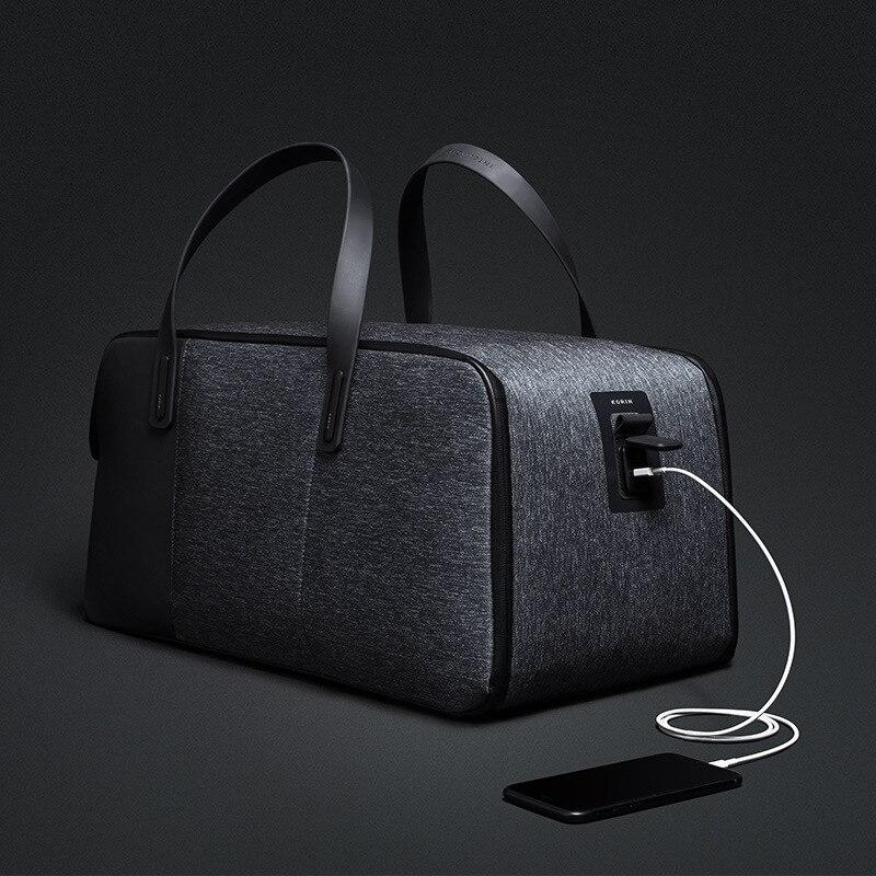 Kingsons 51*26*26 см USB зарядки складной портативный таможенный замок anti theft плечо дорожная сумка для 15,6 Ноутбук для 9,7 Таблица