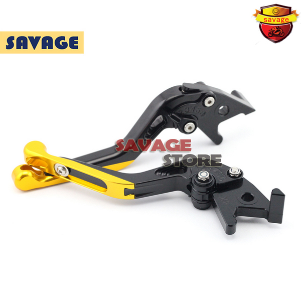 ФОТО For SUZUKI Burgman 125 2014-2015 Gold Motorcycle Extending Brake Clutch Levers extendable CNC Aluminum