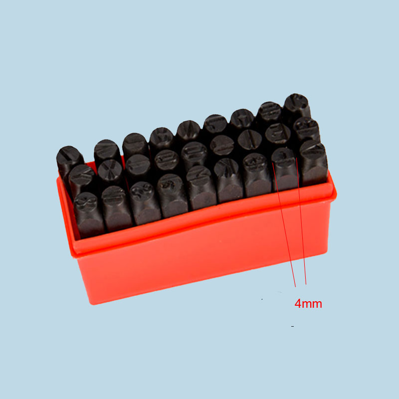 4mm Stamps Letters Steel Code Letter Stamps Mark Punch Die From A to Z plus & Punch Alphabet Set Steel Metal Tool letters to a love rat