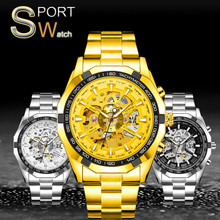 SEWOR 2019 Mens Watches Top Brand Luxury Hollowed Skeleton Automatic Self-Wind Stainless Steel Sport Watch Men Wrist Watches sewor automatic mechanical watch men s top brand luxury men watches military mens sport wristwatch wooden case skeleton clock 65