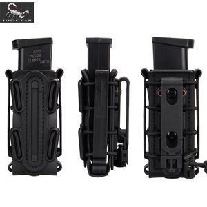 Image 2 - IDOGEAR US army Magazine Pouches Military Fastmag Belt Clip plastic molle pouch bag 9mm softshell G code Pistol Mag Carrier tall