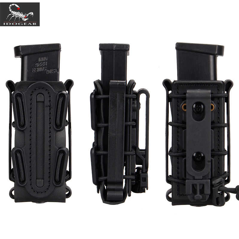 IDOGEAR US army Magazine Pouches Military Fastmag Belt Clip plastic molle pouch bag 9mm softshell G-code Pistol Mag Carrier tall