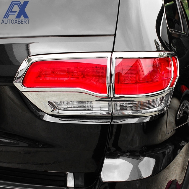 Ax Rear Tail Light Lamp Taillight Chrome Trim Cover For Jeep Grand Cherokee 2017 2016 Car Styling Decoration Protector