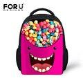 Sweet Candy Color Baby Girls School Bags for Kids 12 inch Backpacks Pattern for Children Kindergarten Lightweight Mochilas Bag