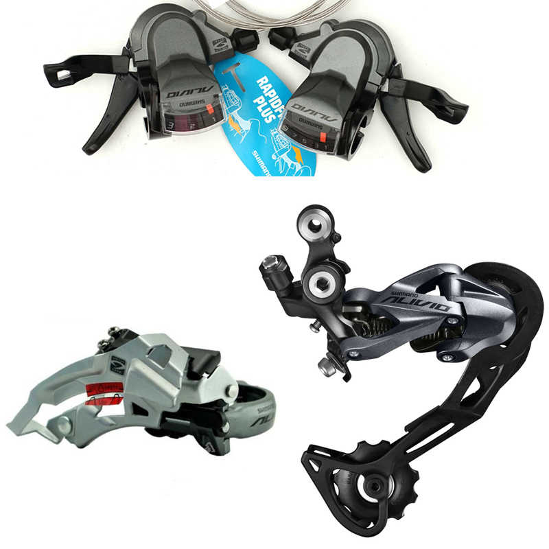2019 Shimano ALIVIO RD-M4000 9 Speed Rear Derailleur SL-M4000 FD-M4000 Bicycle Long Cage Derailleurs SL-M4000 3s*9s 27s MTB Bike