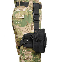 Army Tactical Universal Adjustable Hunting Pistol 600D Molle Drop Leg Bag Airsoft Paintball Nylon Pistol Holster