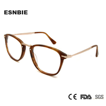 ESNBIE Acetate Brand Designer Mens People Vintage Eyewear Frame Round Glasses Women Oval Prescription Eyeglasses Men