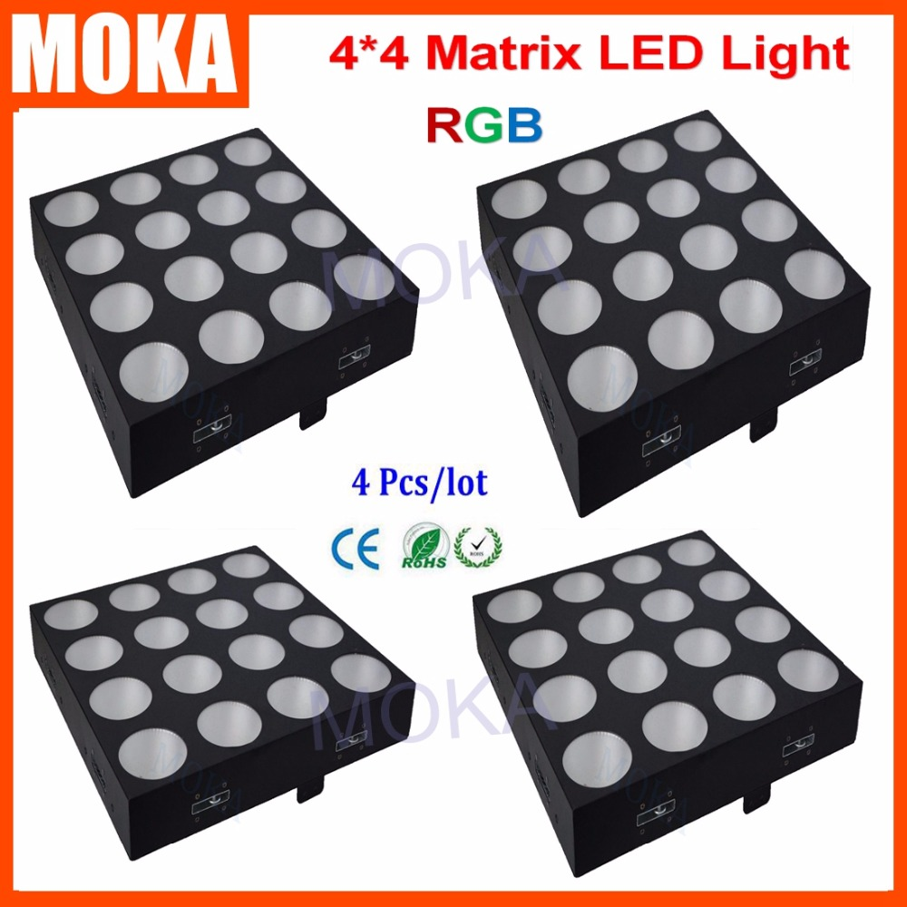 4Pcs/Lot 16X30W LED Matrix Blinder light 4x4 LED Matrix RGB for Dj LED Effect Light 16 30 x 45см