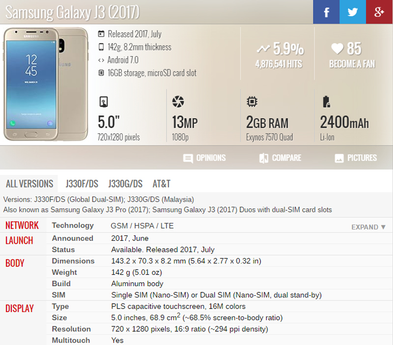 5inch ORiginal AMOLED LCD For Samsung Galaxy J3 2017 J330 J330F SM-J330  Display touch screen assembly