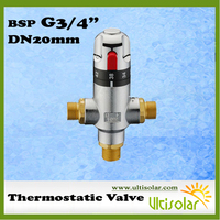 ALL NEW SALE G3/4 Brass thermostatic mixing valve , DN20 thermostatic valve mixer