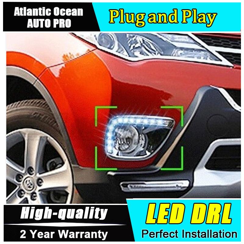 JGRT стайлинг автомобилей 2013-2015 для Тойота RAV4 светодиодные фары дневного света Противотуманные фары высокое качество новый RAV4 СИД DRL Автомобильные аксессуары