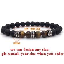 NAIQUBE Men New Fashion Classic Round 8mm Beads Charm Bracelet