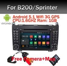 En Stock 1024*600 HD del Androide 5.1 de DVD DEL COCHE para Mercedes/benz W169 A160 B200 Viano Vito GPS NAVI BT de RADIO incorporado wifi